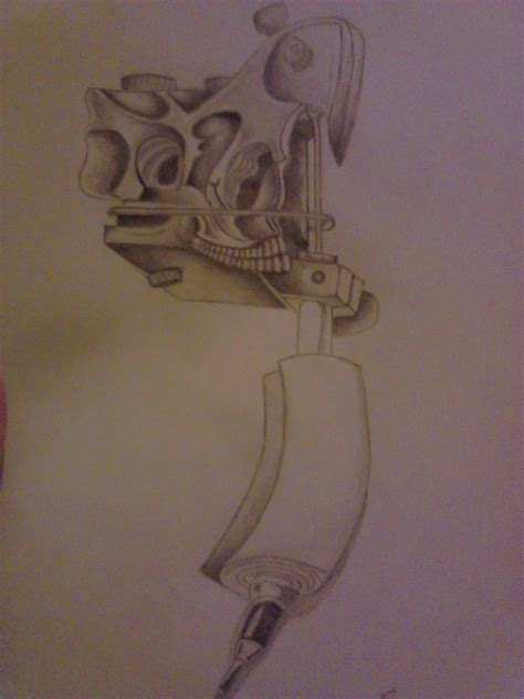 tattoo gun skull pin skull pistols on pinterest