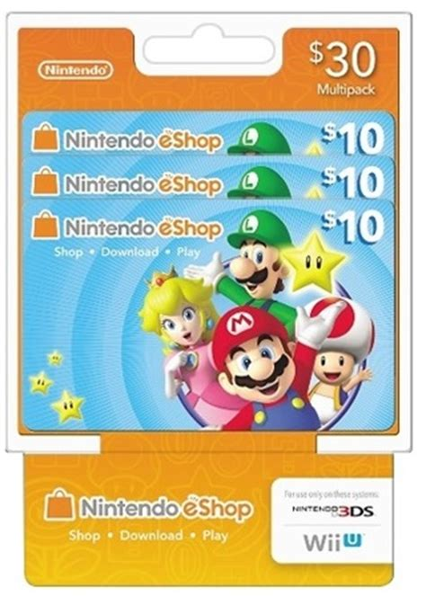 Nintendo Wii Gift Card - free 30 nintendo 10 x 3 eshop gift cards for nintendo 3ds 2ds store or wii u