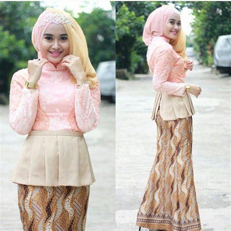 Dress Bunga Cantik Fashion Taun Baru Kekinian 12 Model Baju Kebaya Modern Berjilbab Edisi Terbaru