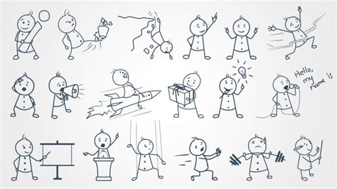 Stick Figures for PowerPoint   ShapeChef