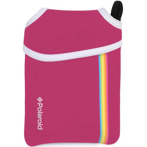 instant pink polaroid neoprene pouch for snap instant pink
