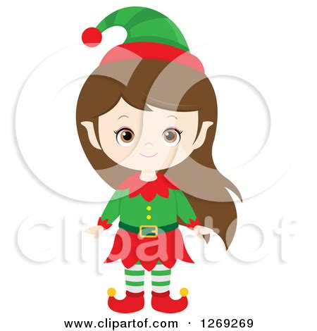 female christmas characters royalty free rf clipart illustrations vector graphics 1