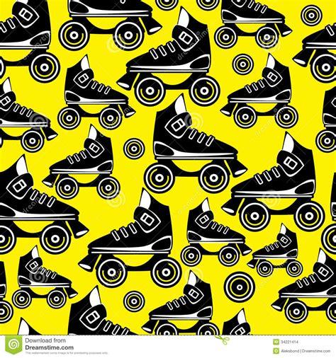 pattern for roller skate seamless pattern roller skates stock images image 34221414