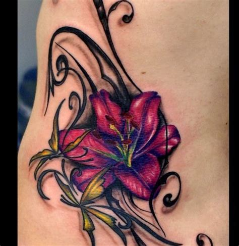 feminine flower tattoos for women