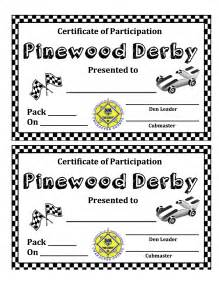 pine derby award certificates pictures inspirational