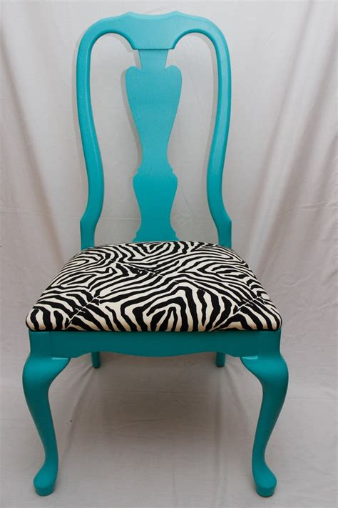 Teal Print Chair Teal And Zebra Print Chair