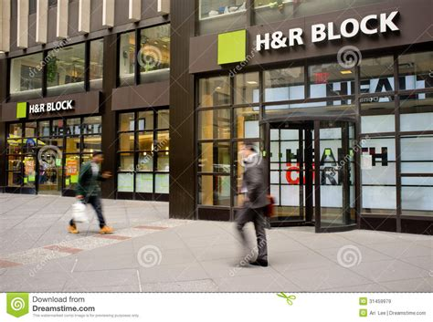H R Block Cost In Office by H R Block Storefront Editorial Stock Image Image Of