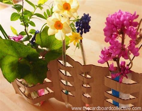 Cardboard Flower Vases beautiful diy woven cardboard vase craft recycled things