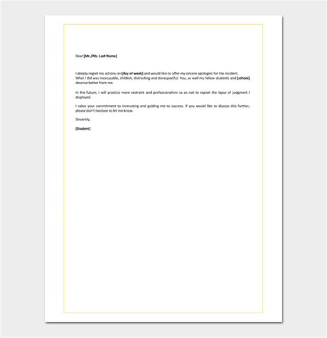 Apology Letter For Mistake In School Apology Letter For Mistake 5 Sles Exles Formats