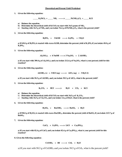 Limiting Reagents Worksheet by 10 Best Images Of Stoichiometry Worksheet 2 Answer Key