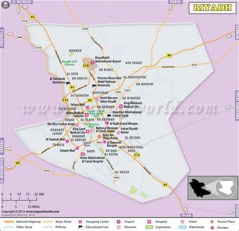 map of riyadh city riyadh map the capital city of saudi arabia shows major