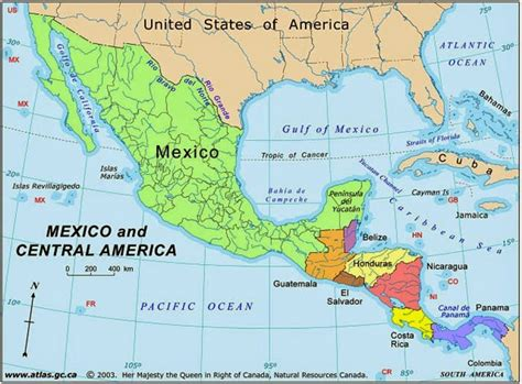 map of mexico central america big dan s big