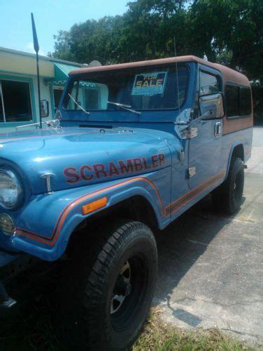 jeep scrambler blue buy used jeep scrambler cj8 sky blue w rally top family