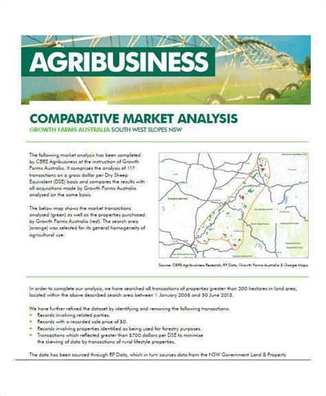 comparative market analysis template 33 analysis exles