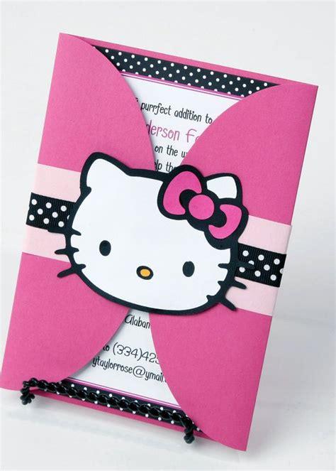 hello kitty themed invitation hello kitty birthday party invitation card sle with