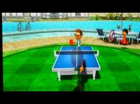 wii sports resort table tennis match carl v s cole