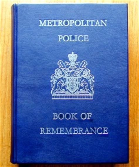 policing books roll of honour metropolitan memorial article