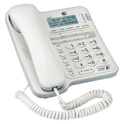 at t cl2909 corded speakerphone caller id white target