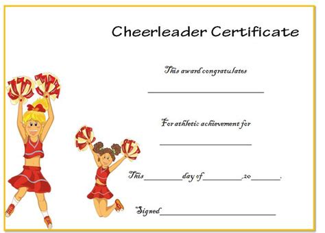cheerleading certificate templates free 13 images of cheer certificates template free netpei