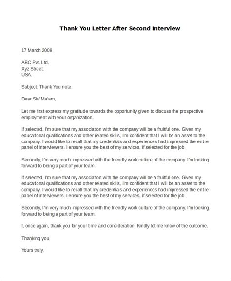 best ideas of thank you note example after second interview for your
