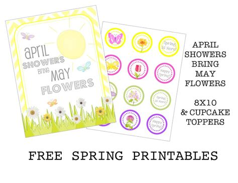 April Showers Bring by Free Printable April Showers Bring May Flowers Printable