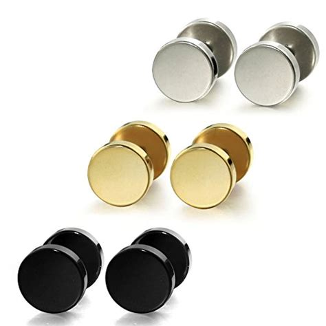 jstyle jewelry stainless steel mens womens stud earrings
