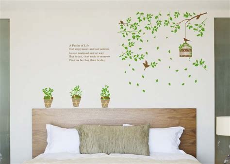 green birdcage living room wall sticker