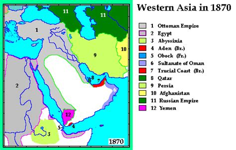 middle east map century whkmla historical atlas western asia page