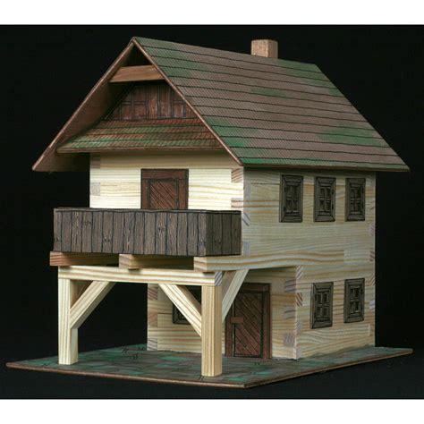 como hacer maquetas de madera maqueta para construir casa de pueblo juguetes de madera