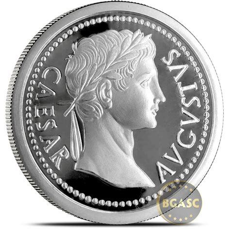 Silver Rounds - buy 1 oz silver rounds caesar augustus 999 silver