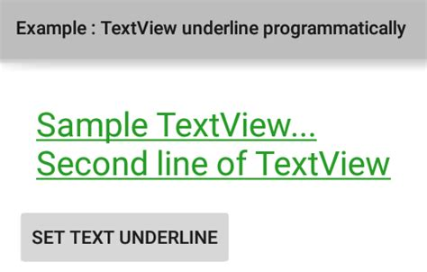 android textview layout weight programmatically how to underline textview text programmatically in android