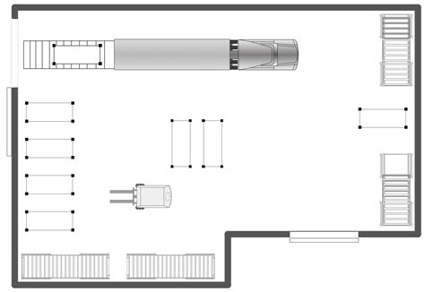 warehouse receiving layout conceptdraw sles building plans plant layout