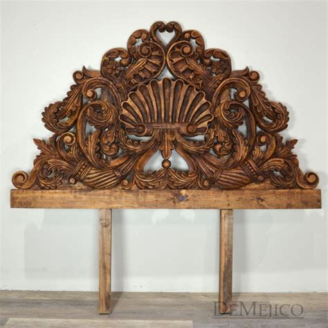Carved Wood Headboard Concha Carved Headboard Headboard Demejico