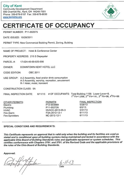 certificate of occupancy template certificate occupancy property rented city occupancy