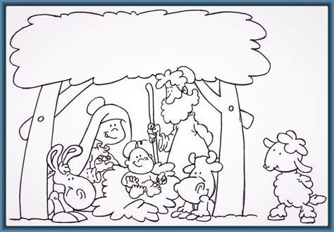 imagenes de navidad para colorear nacimientos dibujos del pesebre de navidad para descargar imagenes