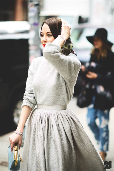 style inspiration the maxi skirt sweater combo this