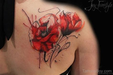 remembrance poppy tattoo designs 60 well formed poppy tattoos on back