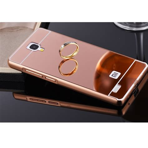 Xiaomi Note 1 3g4g Alumunium Metal Mirror aluminium bumper with mirror back cover for xiaomi redmi note gold jakartanotebook