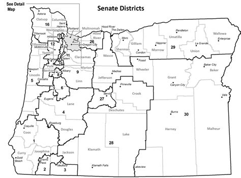 map of oregon districts oregon blue book senate district maps