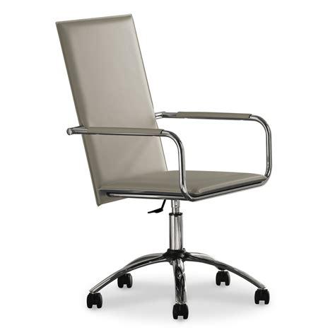 sedie ufficio sedia da ufficio regolabile in cuoio vivo db cu arredas 236