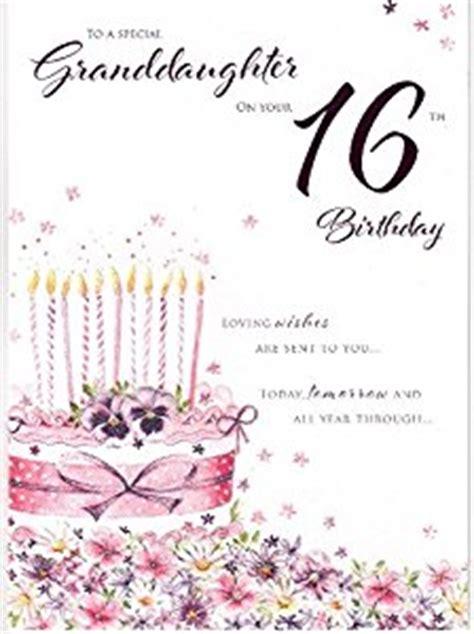 Granddaughter 16th Birthday Cards Granddaughter Happy 16th Birthday Card Pink Birthday