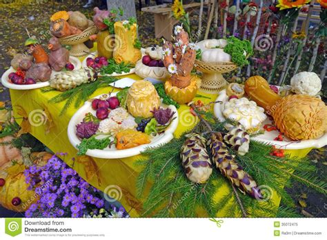 table decoration with fresh vegetables and fruits royalty