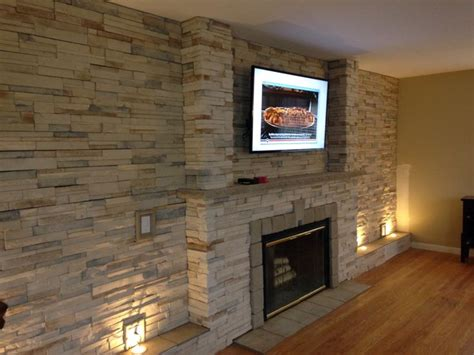 stone wall in living room 17 best midnight stack stone images on pinterest