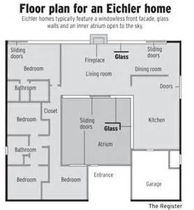 eichler floor plan joseph eichler home california eichler home floor plans