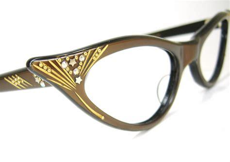 vintage 1950s cat eye glasses eyeglasses by vintage50seyewear