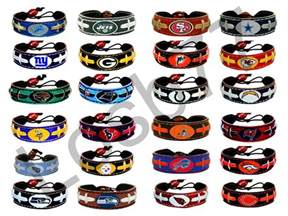 nfl colors nfl official leather football bracelet all teams and