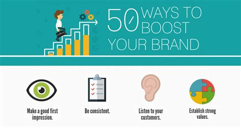 50 ways to boost your brand infographic