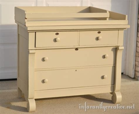Antique Changing Table Dresser To Changing Table