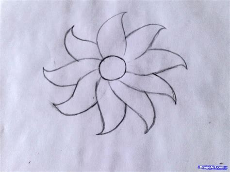 A Drawing Of A Flower by How To Draw A Flower Easy Drawing Pencil