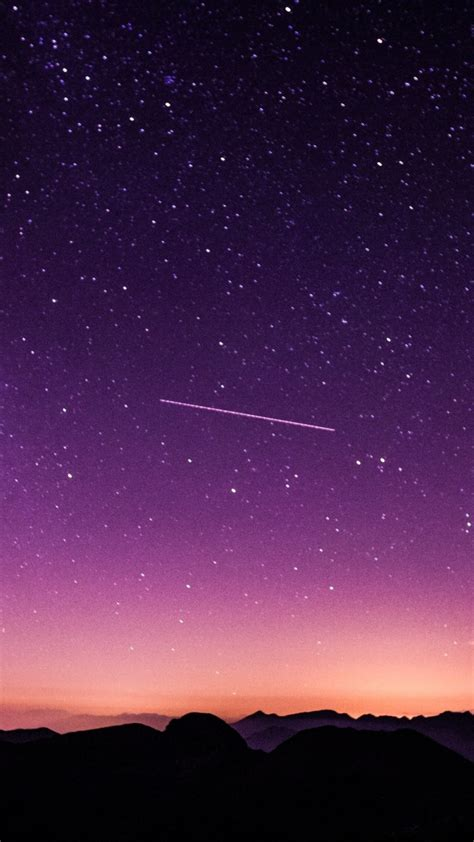 wallpaper starry sky night purple sky twilight